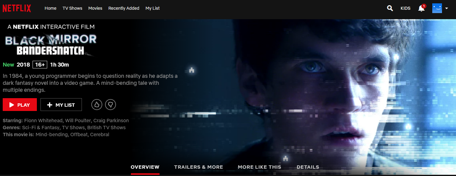 Sidetracked: Black Mirror: Bandersnatch, Netflix's first interactive film for adults